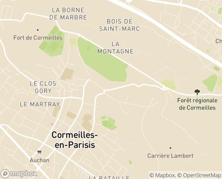 Localisation Maison de Famille la Châtaigneraie - EHPAD - 95240 - Cormeilles-en-Parisis