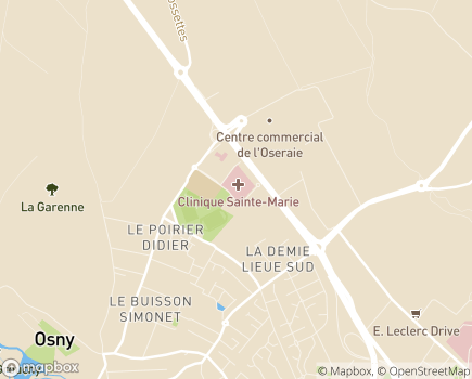 Localisation CHP Sainte-Marie - 95520 - Osny