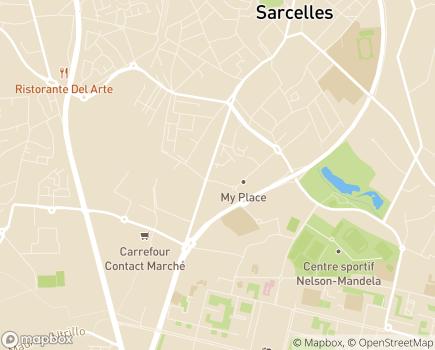 Localisation Korian Les Merlettes - 95200 - Sarcelles