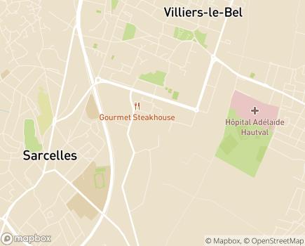Localisation Ateliers de Tissonvilliers - 95400 - Villiers-le-Bel