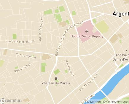 Localisation Korian Le Cottage - 95100 - Argenteuil