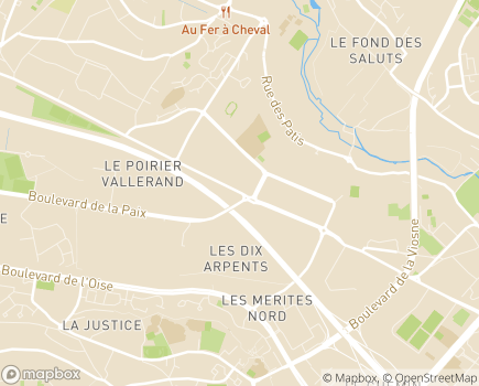 Localisation ADPEP - 95525 - Cergy-Pontoise