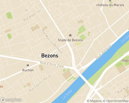 Localisation Korian - Clinique Le Pont - 95870 - Bezons
