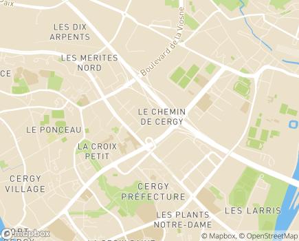 Localisation MSA  Bureau départemental du Val d'Oise - 95002 - Cergy-Pontoise
