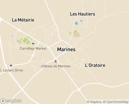 Localisation SSIAD Croix Rouge Française - 95640 - Marines