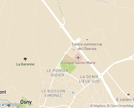 Localisation EHPAD Résidence Le Clos de l'Oseraie - 95520 - Osny