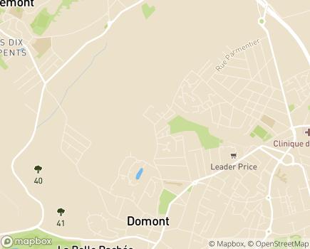 Localisation A.P.A.J.H 95 - E.S.A.T. - 95350 - Saint-Brice-sous-Forêt