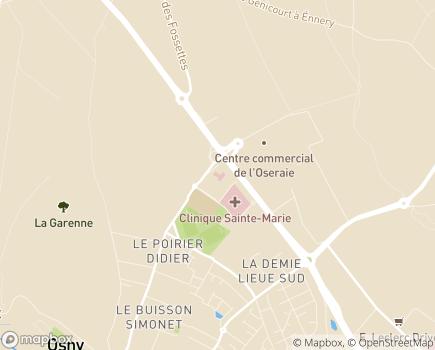 Localisation CLINEA - Clinique de l'Oseraie - 95520 - Osny