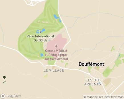 Localisation Centre Médical et Pédagogique Jacques Arnaud, SSR - 95570 - Bouffémont