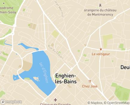 Localisation Résidence Services Seniors L'Eclat du Lac Cogedim Club® - 95880 - Enghien-les-Bains