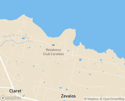 Localisation EHPAD Les Eaux Marines - 97160 - LE MOULE