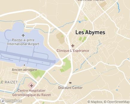 Localisation USLD du CG du Raizet - 97139 - Les Abymes