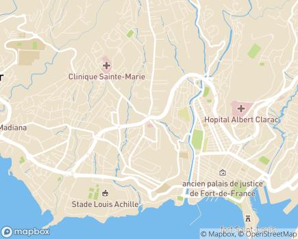 Localisation Clinique Saint Paul - 97200 - Fort-de-France