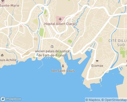 Localisation Conseil Départemental de Martinique - 97200 - Fort-de-France