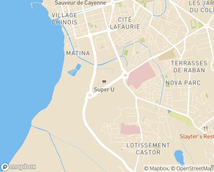 Localisation Direction de la Santé et du Développement Social - 97300 - Cayenne