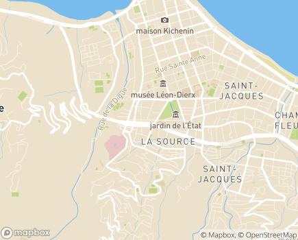 Localisation Hôpital d'Enfants Association Saint François d'Assise - 97404 - Saint-Denis