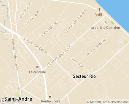 Localisation G.H.E.R. (Groupe Hospitalier Est Réunion) - 97440 - Saint-André