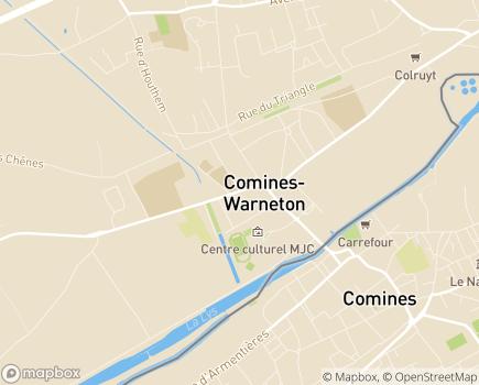 Localisation EHPAD - Institut Saint Joseph, ACIS asbl - 7780 - Comines-Warneton