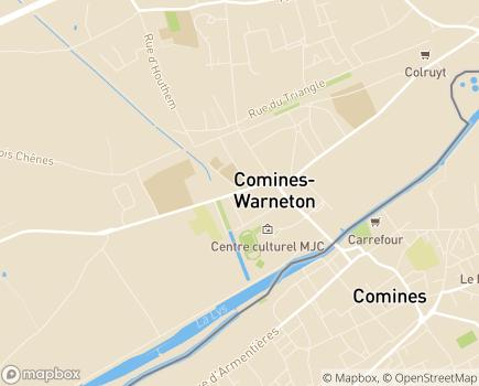 Localisation Résidence Saint-Joseph - Résidence Services - ACIS Asbl - 7780 - Comines-Warneton