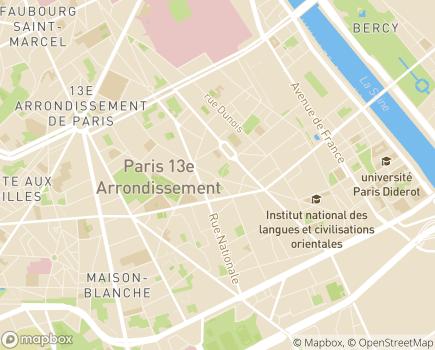 Localisation CNAPE - Convention Nationale des Associations de Protection de l'Enfant - 75013 - Paris 13