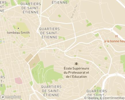 Localisation FNATH - Association des accidentés de la vie - 42030 - Saint-Étienne