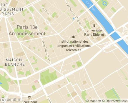 Localisation UNIOPSS - Union nationale interfédérale des oeuvres et organismes privés non lucratifs sanitaires et sociaux - 75214 - Paris 13