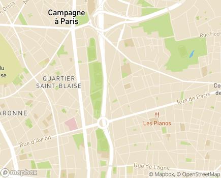 Localisation CNAM - Caisse Nationale de l'Assurance Maladie - 75986 - Paris 20