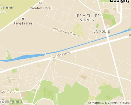 Localisation Caisse Centrale de la Mutualité Sociale Agricole - 93000 - Bobigny
