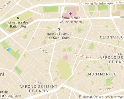 Localisation UNAPEI - Union nationale des associations de parents, de personnes handicapées mentales, et de leurs amis - 75876 - Paris 18