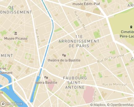 Localisation Fédération Française des Diabétiques - 75544 - Paris 11