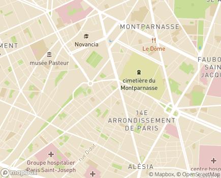 Localisation Alliance du Coeur - Union Nationale des Fédérations Cardio-Vasculaires - 75014 - Paris 14