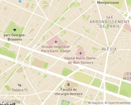 Localisation Alliance Maladies Rares - 75014 - Paris 14