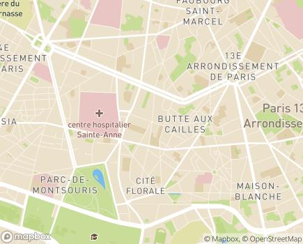 Localisation FNAPSY - Fédération Nationale des Associations d'usagers en Psychiatrie - 75013 - Paris 13