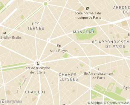 Localisation Groupe Korian Sanitaire - 75008 - Paris 08