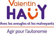 Logo AVH - Association Valentin Haüy, Avec les Aveugles et les Malvoyants